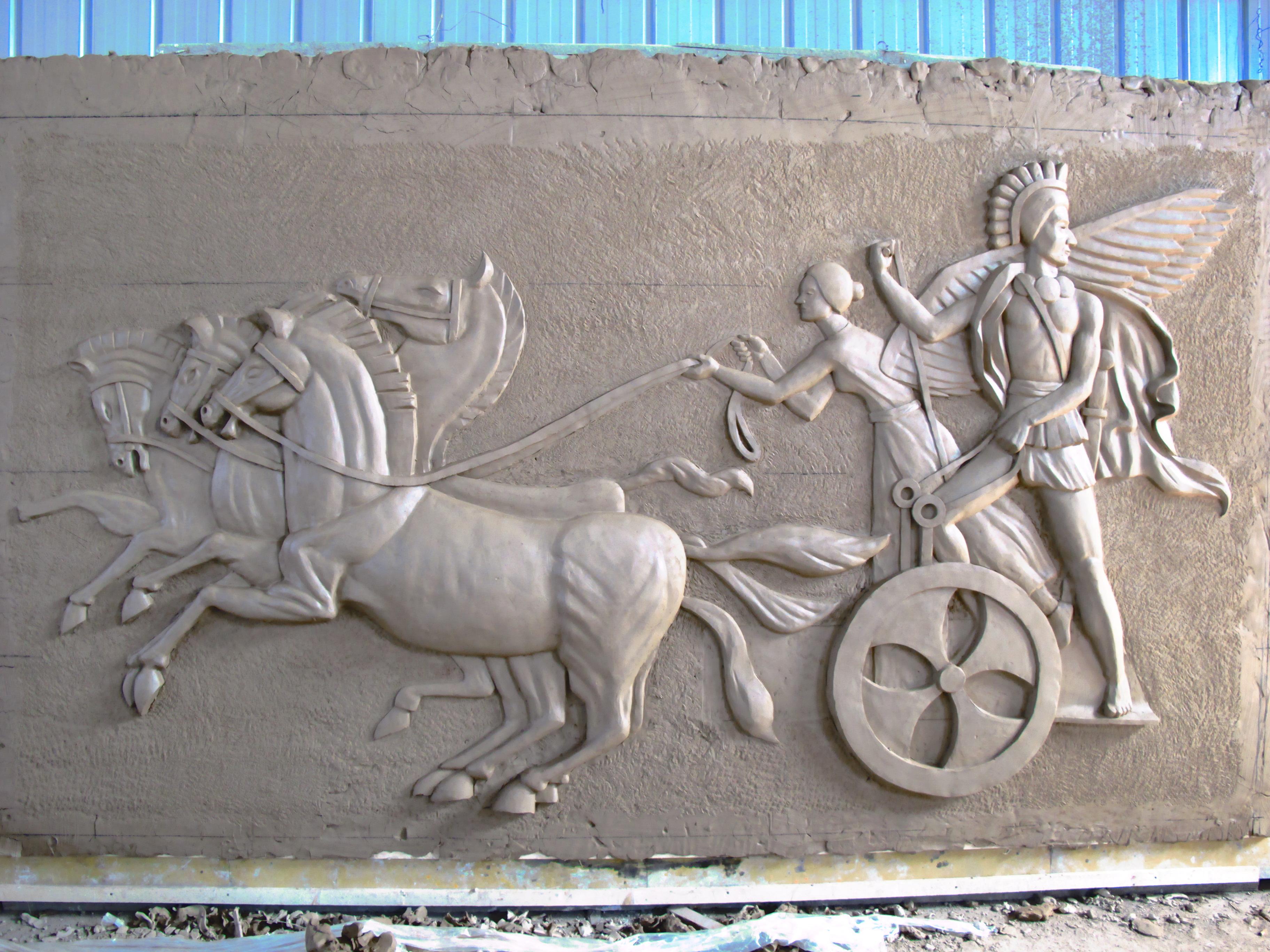 东营广饶grc构件罗马柱梁托檐线窗套门套