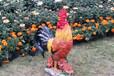 仿真大公鸡雕塑图片玻璃钢仿真大公鸡制作厂家