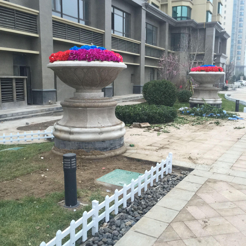 石雕花盆欧式花盆大理石花岗岩花盆园林装饰摆件