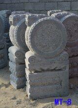 石雕门墩招财镇宅抱鼓石门口摆件一对装饰石狮子石鼓图片