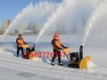 吉林延边小型扫雪机手推式抛雪机干净除雪图片