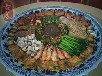 陶瓷海鲜大瓷盘特大分格瓷盘酒店火锅拼盘