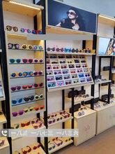 快时尚太阳镜眼镜柜台展示柜营口生态板眼镜店货架陈列柜高柜中岛