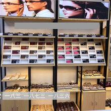 安庆眼镜店眼镜柜台整店装修眼镜展示柜细节要求多层格子太阳镜货架陈列柜