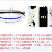 厂家定制无线智能触摸护眼台灯手机无线充电灯