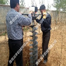 植树地钻机栽树挖洞机四轮挖坑机电线杆打洞机图片