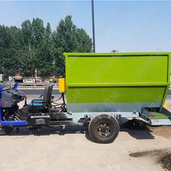 养殖撒料机械青贮撒料车电动喂养车机动柴油车