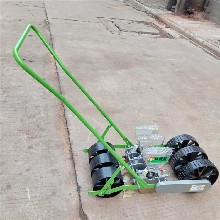 单行人力蔬菜播种机手推萝卜精播机多规格播种机定制图片