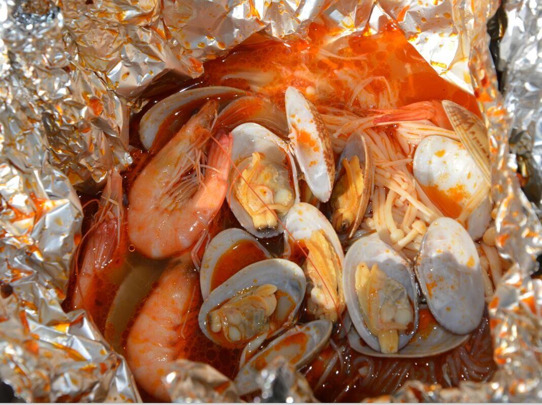 海鲜小吃开心花甲粉