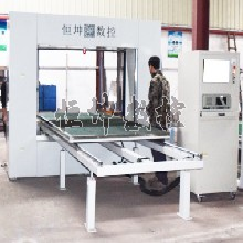 河北海绵机械制作销售酚醛泡沫海绵切割机HK-KX21仿形切割设备