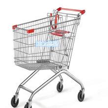 青岛超市购物车济南德嘉批发商场人字型购物车静音带凳电梯轮图片