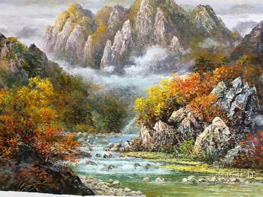 精美朝鲜名家油画
