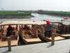 供應廠家直銷木船旅游觀光船搖櫓船手劃船單篷船