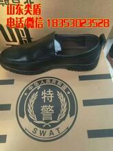 军工缝线交警直板皮鞋