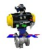 进口气动V型球阀原装进口球阀德国莱克LIK品牌