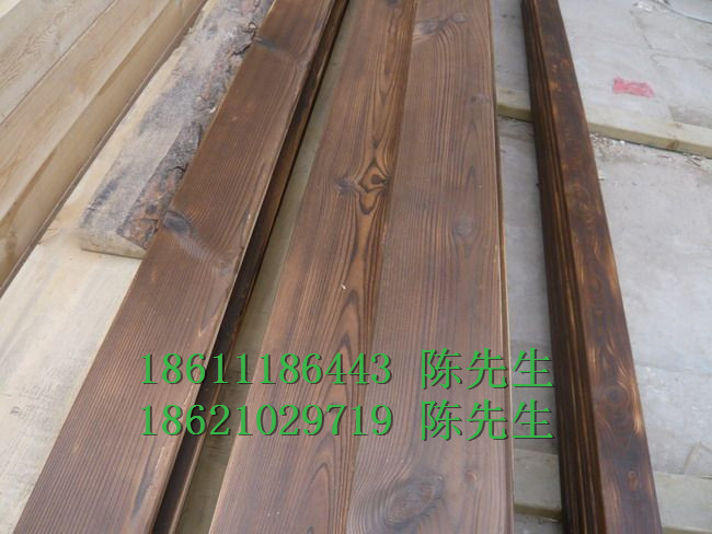 碳化木板材古建筑碳化木45145地板料温州供应
