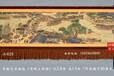定制中國古典名畫清明上河圖手繪藝術掛毯客廳會所裝飾壁毯畫圖片