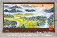 订做大型吸音材质手绘艺术挂毯国画风景画春光明媚图客厅装饰壁毯黄明挂毯