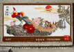 中国画丹凤朝阳手绘艺术挂毯客厅室内装饰品吸音壁挂乔迁庆典文化礼品
