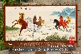 订制蒙古新疆草原风格八骏图手绘艺术挂毯酒店会所宾馆客厅吸音材质装饰品壁毯画图片
