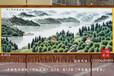 订制新疆天山天池手绘艺术挂毯办公室会议室客厅装饰画吸音材质壁毯