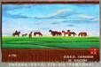 订制蒙古新疆时尚家居装饰品壁毯手绘风景画草原风光艺术挂毯地毯画装饰画礼品