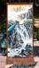 订做竖幅国画山水画手绘艺术挂毯客厅玄关会议室装饰壁毯画礼品