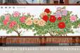 订制国画牡丹图手工艺术挂毯创意家居装饰品壁毯壁挂装饰画礼品地毯画