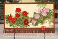 满江红国画牡丹图手绘艺术挂毯客厅会议室办公室装饰吸音材质壁毯