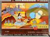 订制订做新疆中亚波斯阿拉伯西域风情手绘艺术壁挂毯家居客厅装饰礼品新疆挂毯图片