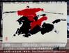订制蒙古草原风格手绘艺术挂毯骏马图壁毯办公会议室装饰品商务礼品