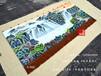 订制大型装饰壁毯国画旭日东升图手绘艺术挂毯办公室会议室吸音毯图片收藏