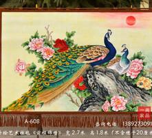 大型墙壁画,巨幅手绘礼品收藏品,商务开业庆典礼品,当代中式时尚画图片