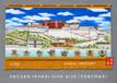 西藏布達拉宮佛教掛毯畫掛畫純手繪佛教用品吉祥八寶藏族高檔禮品畫