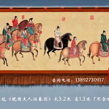 虢国夫人游春图赏析仿古装饰壁画客厅文化墙商务往来礼品推荐客厅家居挂毯画