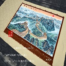 万里长城图片手绘山水画国画名画礼品画无框画现代简约山水画