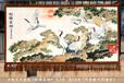 工笔画松鹤呈祥图客厅装饰壁挂毯中式装修风格民族艺术挂毯无框画图片