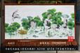 订制民族风格荷花仙鹤图手绘艺术挂毯客厅书房室内装饰壁挂毯图片