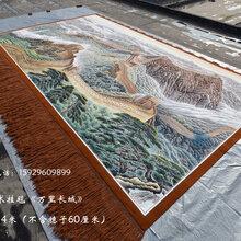 订做会议室客厅接待室大型吸音壁挂毯国画万里长城图中式家居装饰壁挂毯图片
