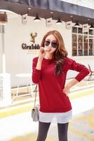 打底衫批发,新款秋冬装,纯色针织衫,韩版卫衣批发图片