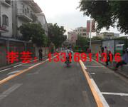 圩镇热熔车位划线-画线施工-市政马路画线价格图片