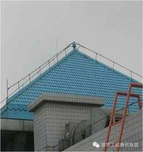 某建筑为平面屋顶,采用自然防雷装置,接闪器采用避雷带图片