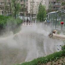 无锡花园小池景观造雾原理图片