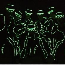 行走在黑暗中的精灵电光舞节目演出表演服装出租舞蹈教学培训