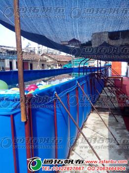 供应帆布蓄水池生产厂PVC夹网布帆布蓄水池价格