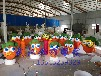 保卫萝卜游戏泡沫道具模型定制胡萝卜广告暖场活动泡沫道具武汉泡雕工厂