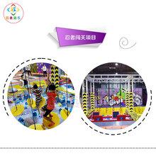 江西新余商场成人弹跳室大型超级蹦床好多人在玩图片