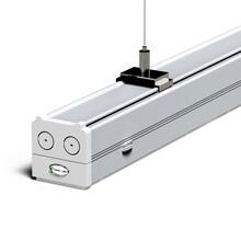 广州茂荣提供左/右单边25°LED展览展示照明线条吊灯系统安装改造!图片