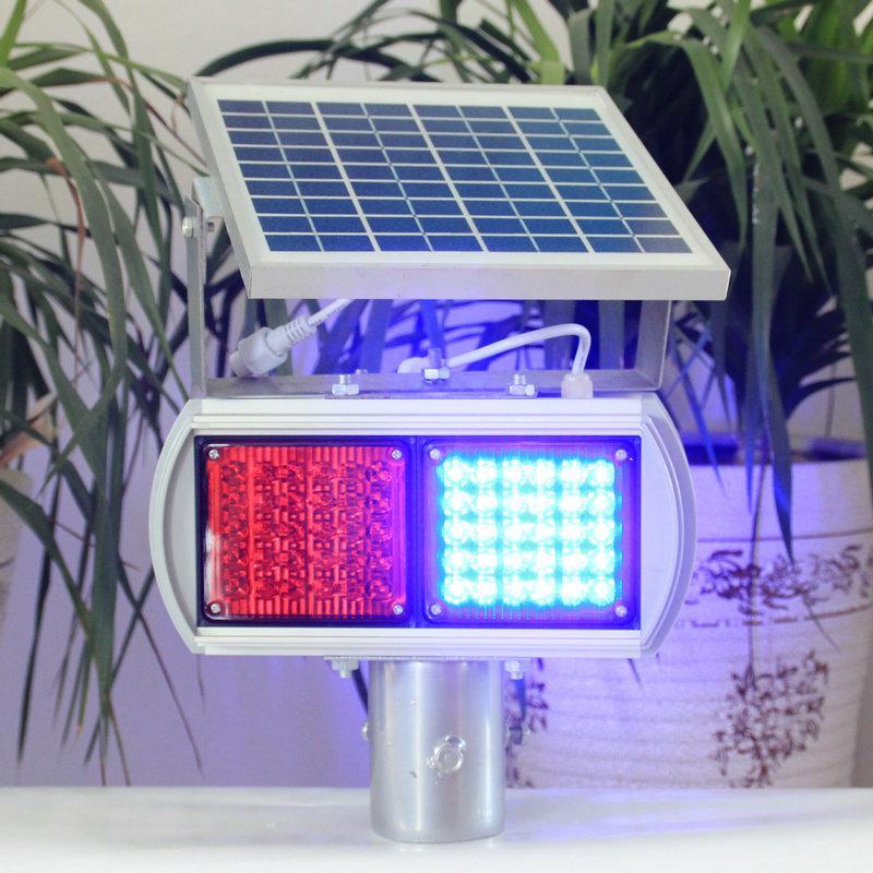 太阳能爆闪灯LED警示灯多晶硅太阳能闪光灯