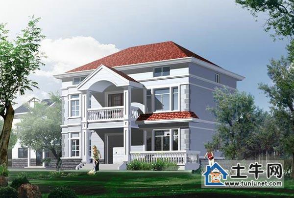 农村二层带阁楼自建房屋设计图纸-别墅户型图,别墅图纸下载